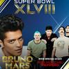 Bruno Mars con Red Hot Chili Peppers en la Super Bowl