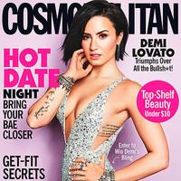 Demi Lovato sexy en la portada de Cosmopolitan