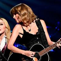 Madonna con Taylor Swift en los iHeartRadio 2015
